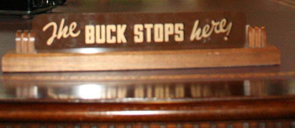 the buck stops here crop